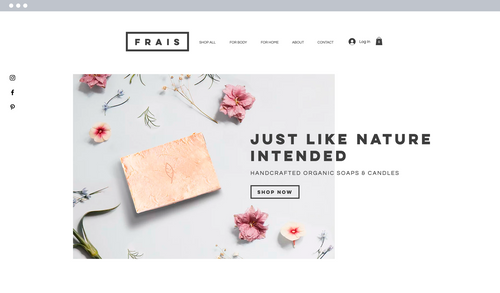 Soap and candle website