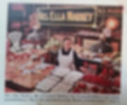 Firefly Hollow's Brethren Roots! Kara's Grandmother Ella Markey pictured in the Saturday Evening Post at her Central Market Stand in York