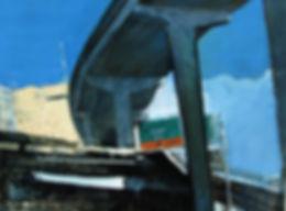 Julio Suarez, Downtown Pass, oil on panel