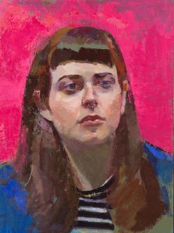 "Claudia 2, 16x12"" Oil on Linen"