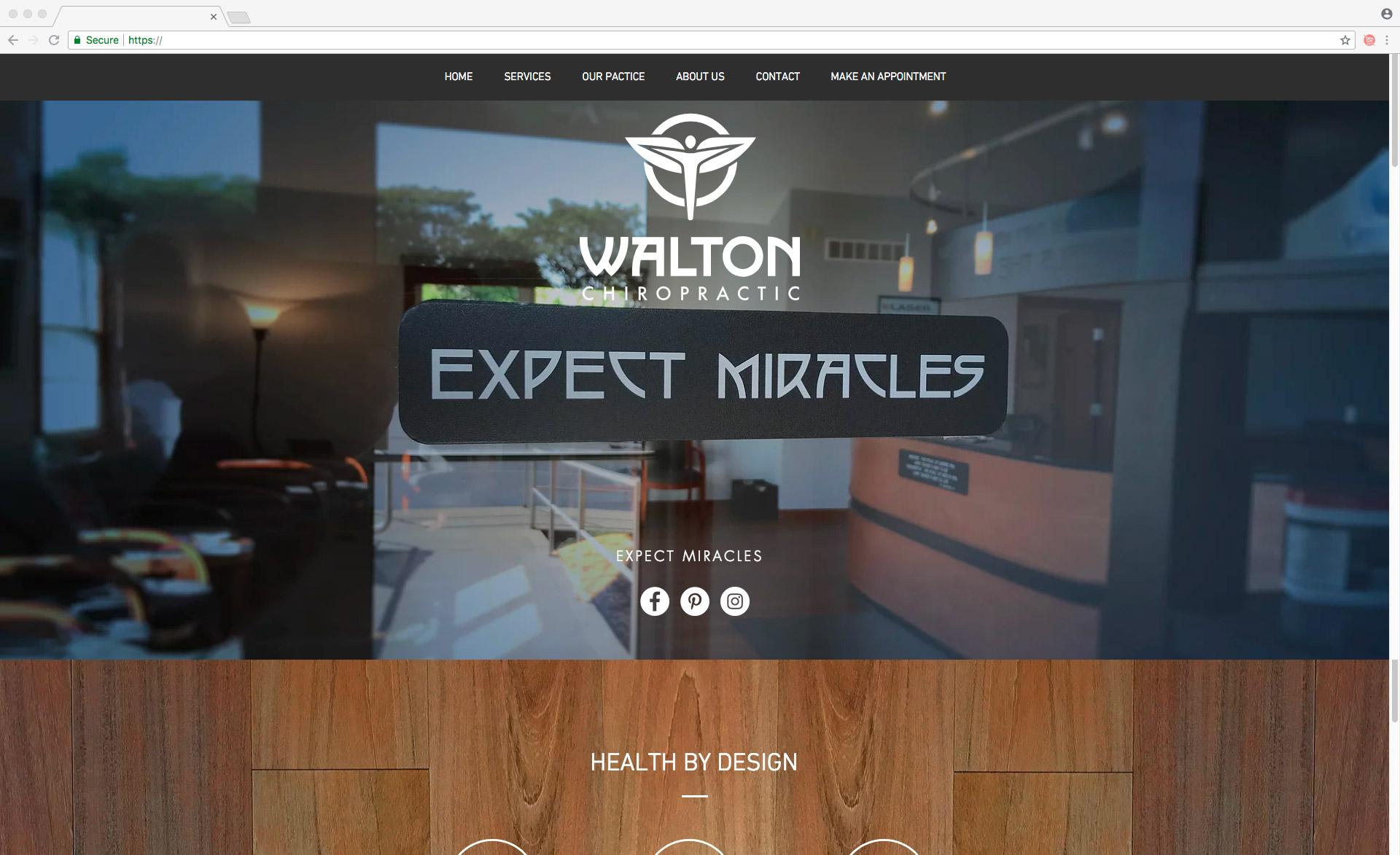 Walton Chiropractic Website