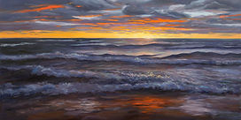 Sam Knecht's painting, Last Rays, accepted to ArtPrize 2018.