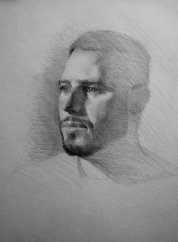 portrait sketch of a man