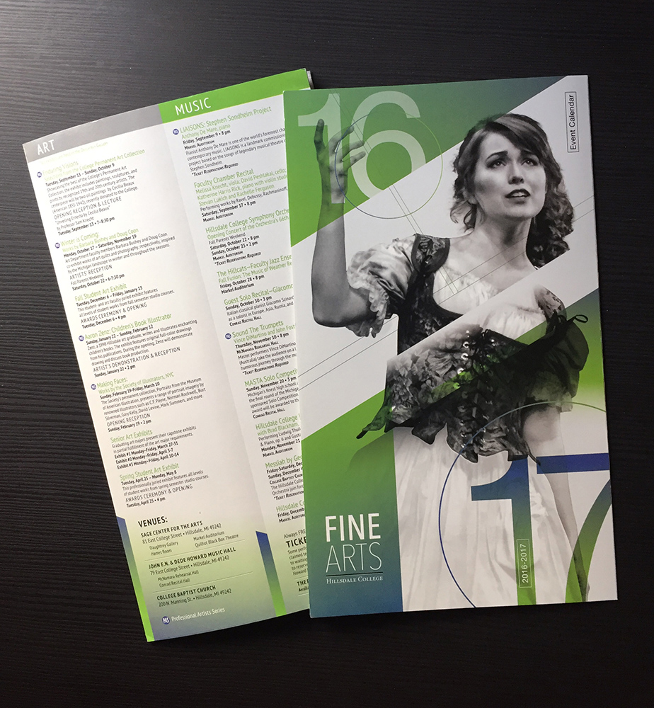 Fine Arts Event Calendar Mailer 2016
