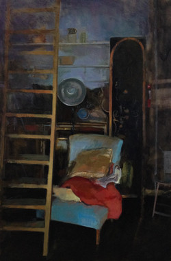"Studio 2, 36x24"" Oil on Panel"