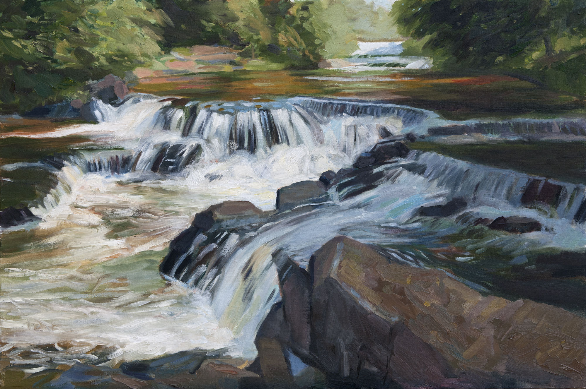 Upper Bond Falls, oil