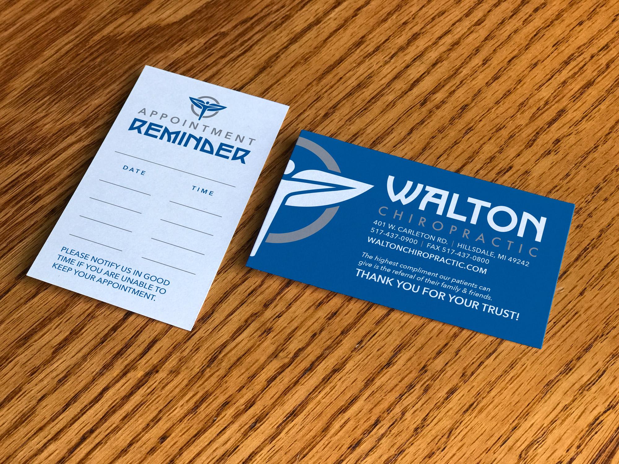 Walton Chiropractic Business Card