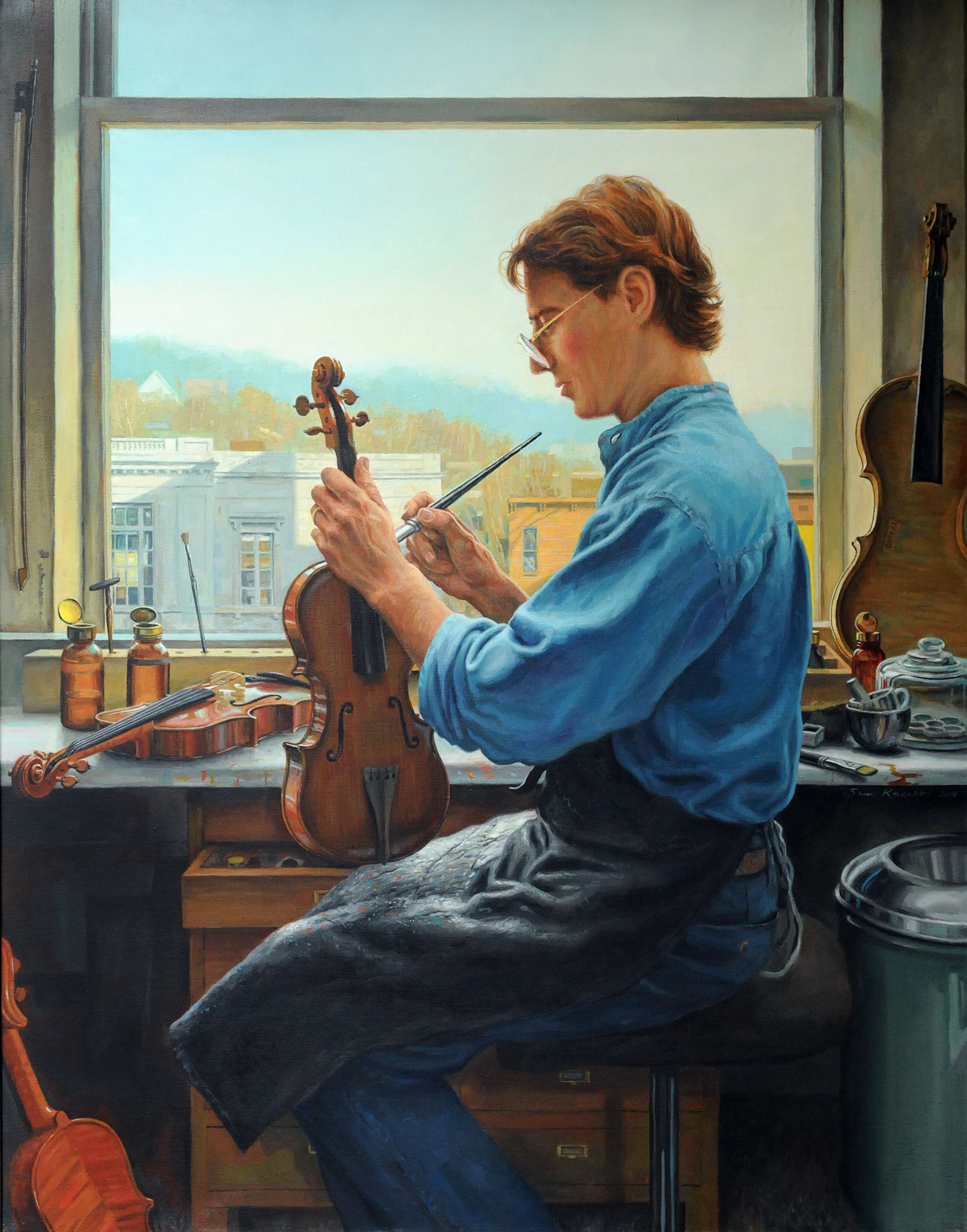 The Violinmaker, oil