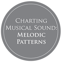 Icon depicting text: Charting Musical Sound: Melodic Patterns