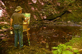 Sam Knecht paints Plein Air in Michigan's Upper Peninsula