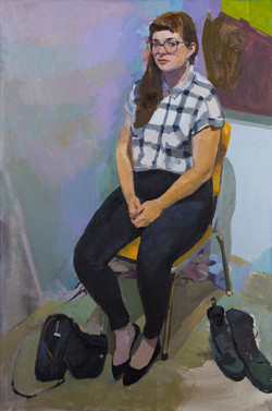 "Claudia, 36x24"" Oil on Linen"