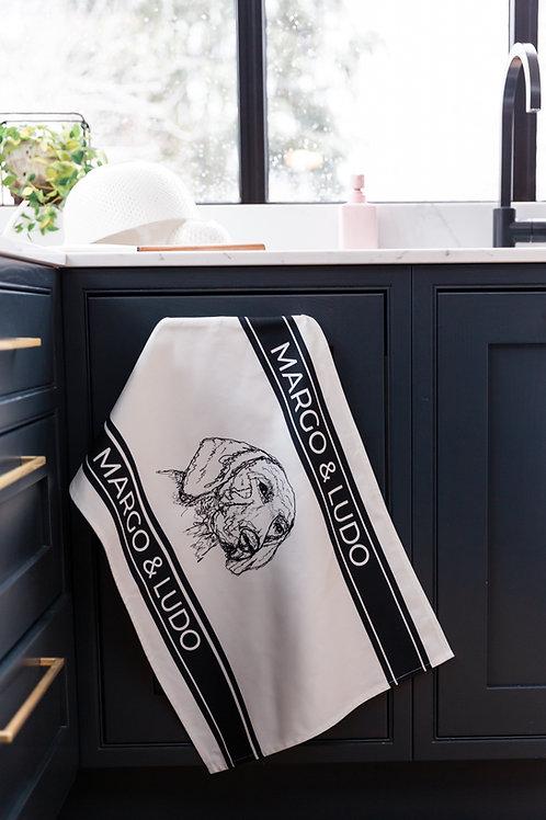 Tea Towel Striped Ludo Horizontal