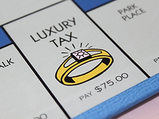 the luxury tax icon from a Monopoly board