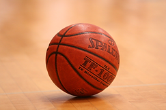 a basketball laying on the ground
