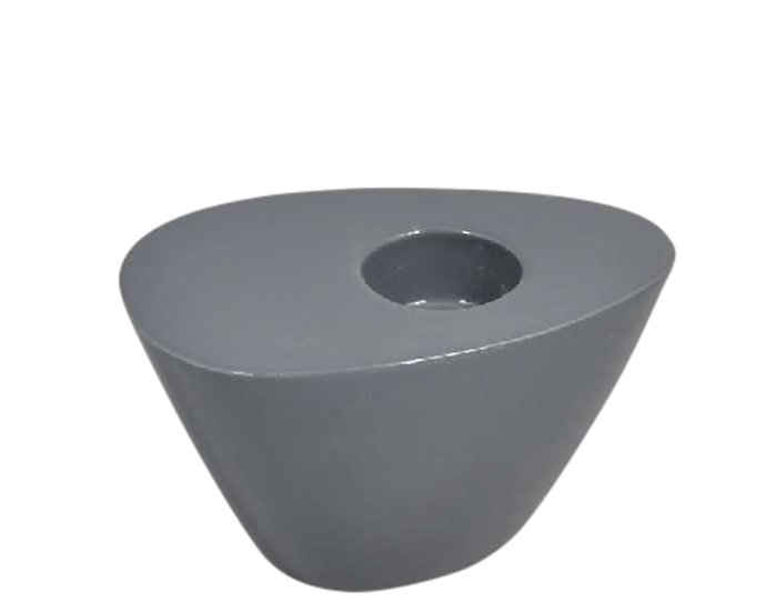 DECOR 13062-04 / SG CHARCOAL WEDGE CANDLE HOLDER