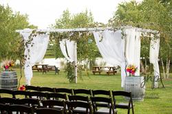 Flower & Cloth Wedding Installation