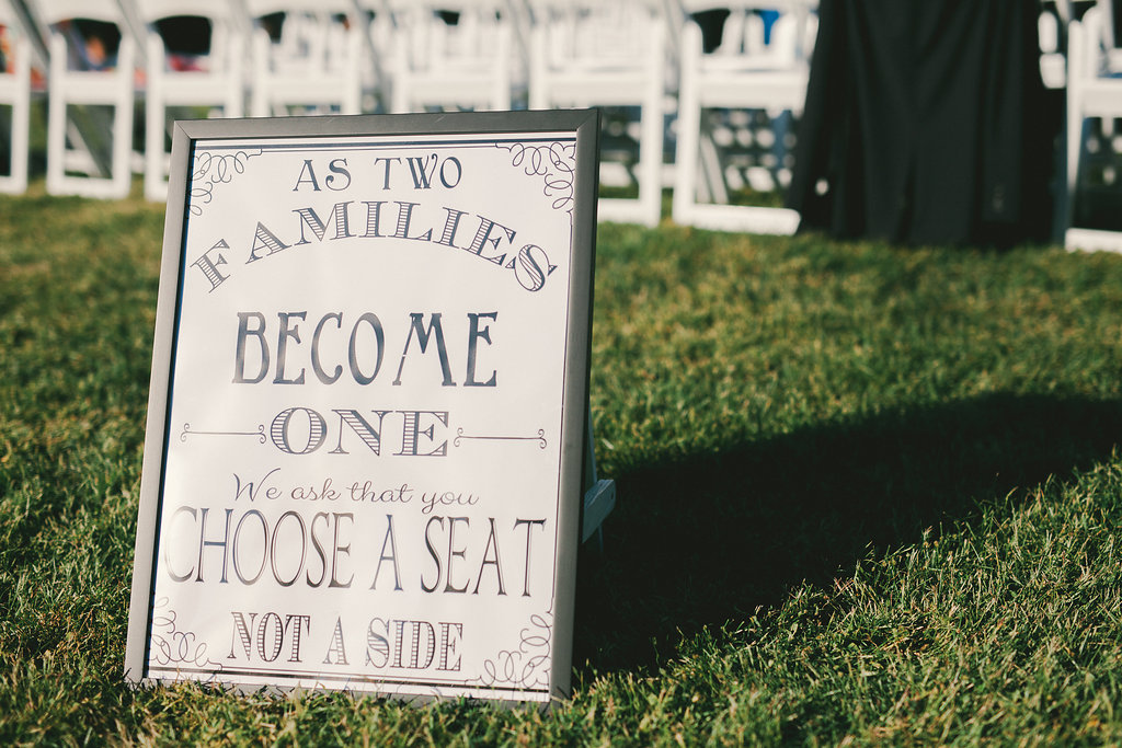Wedding Seat Sign