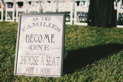 Wedding Seat Sign
