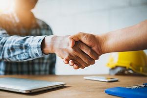 Negotiating business,Image of businessme
