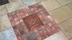 Reclaimed brick detail