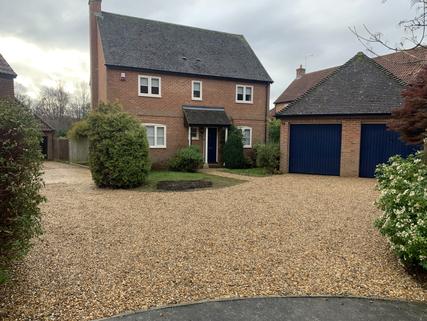 Newly graveled driveway