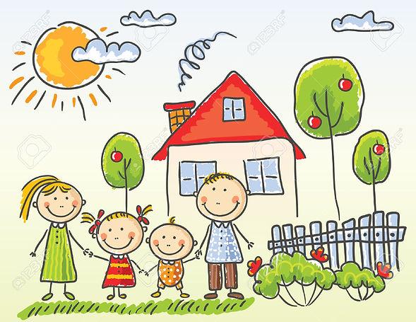 31896295-Happy-family-near-their-house-S