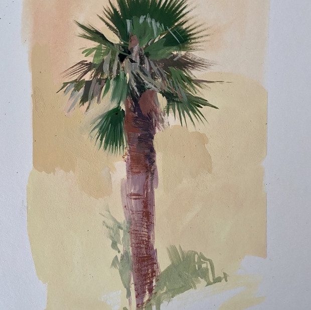 Palm in Smoke