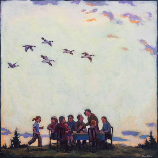 Dinner Party, Yellow Sky