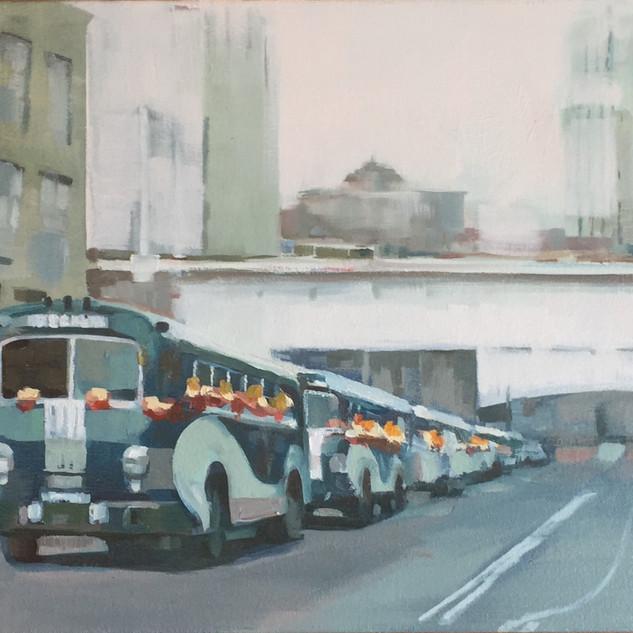 San Francisco Bus Parade 1956