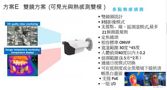 紅外線多點式熱成像及人臉辨識測溫(方案E)