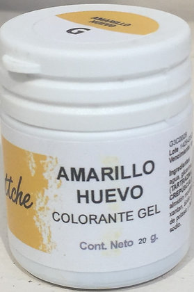 COLOR GEL AMARILLO HUEVO