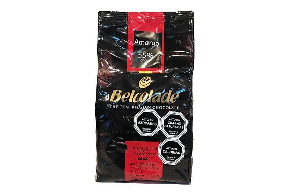 REAL CHOCOLATE BELGA BELCOLADE AMARGO PURATOS 55%