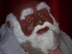 African American Santa face detail