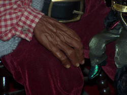 African American Hand detail