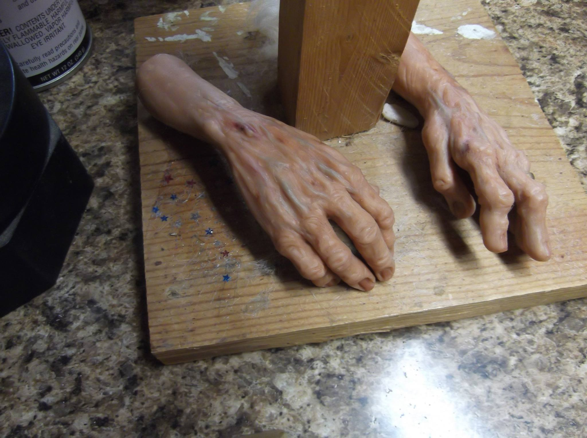 Hands in progress...