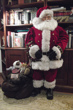 Library Santa - over 4ft tall!