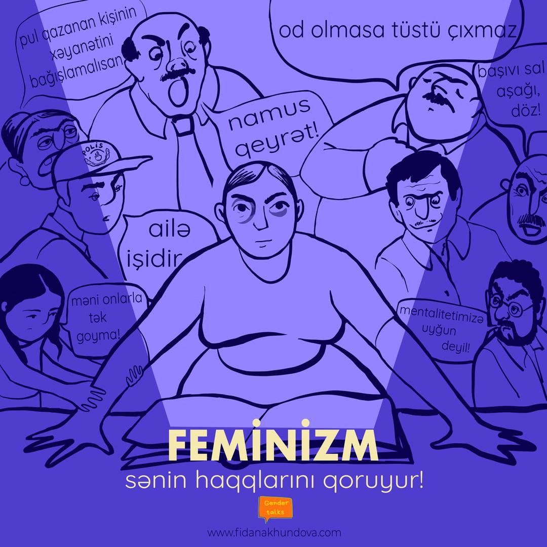 Feminizm haqlarını qoruyur!