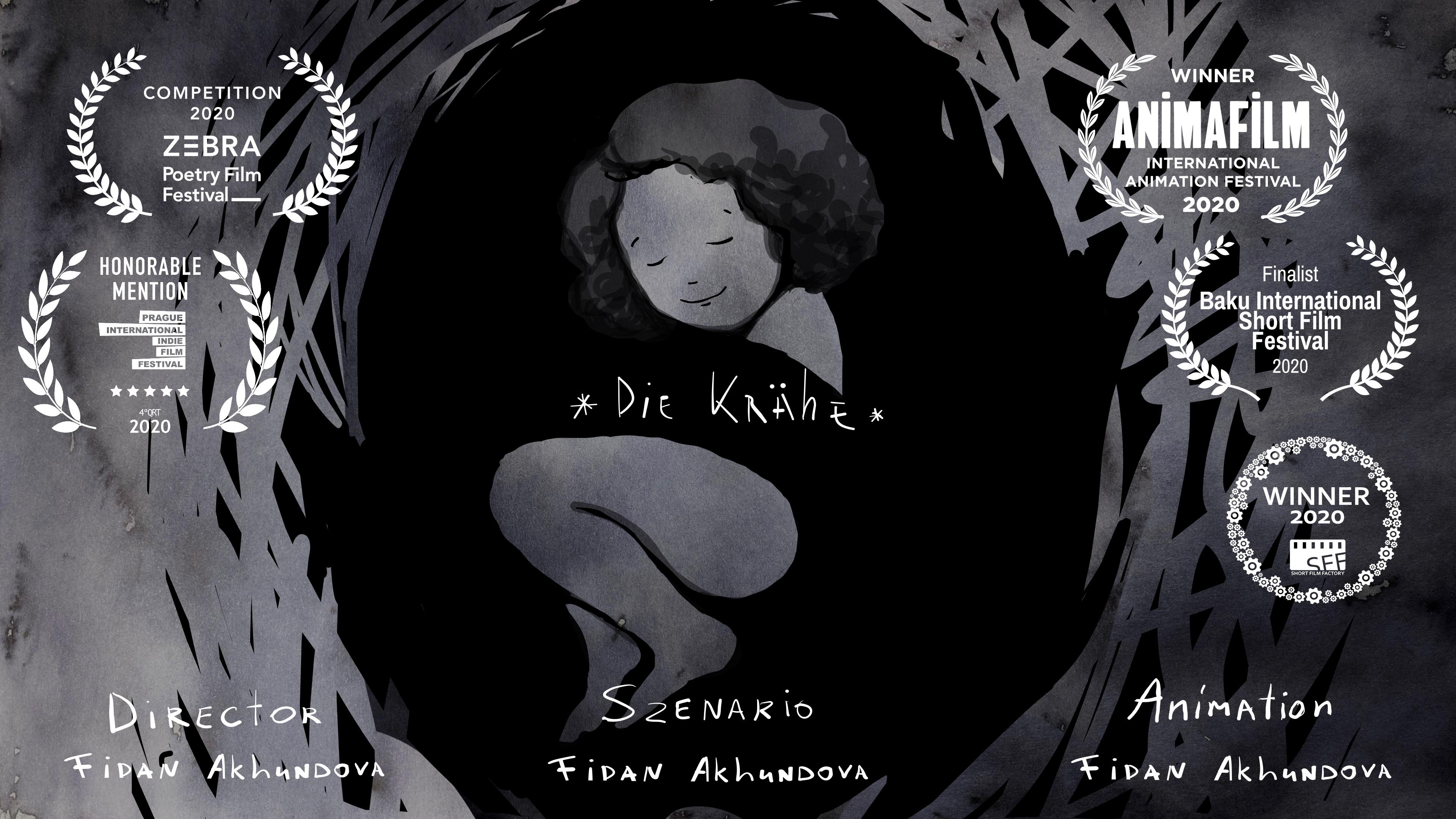 """poster """"die Krähe"""" Fidan Akhundova"""