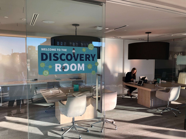 Discovery Room window cling