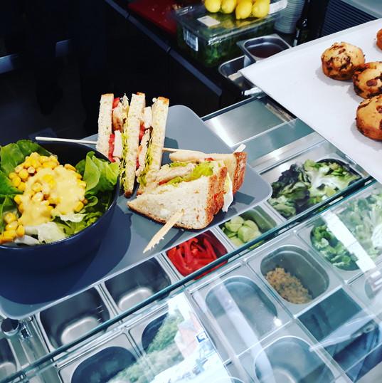 Le club poulet et sa salade