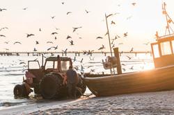 Fischer auf der Insel Usedom
