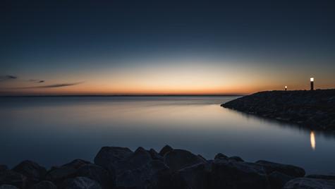 Sonnenaufgang Hafen Barhöfft