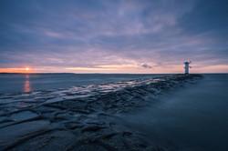 Sonnenuntergang auf der Insel Usedom