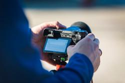Kamera eines Workshopteilnehmer