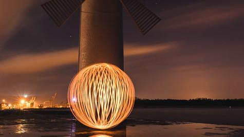 Lightpainting auf unserem Worksho