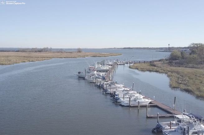 Boat slips at Browns Point Marina