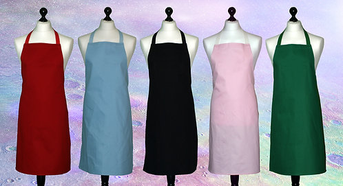 Embroidered 100% cotton aprons (text only)