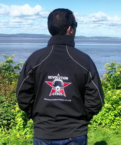 Revolution Gyros jacket back logo