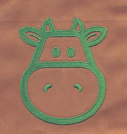 Cow logo on apron