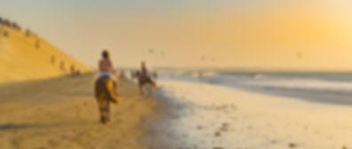 Passeio a cavalo na praia de Jericoacoara